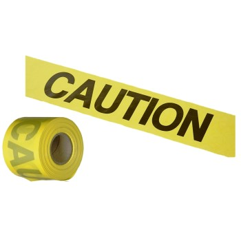 "Caution Tape, Yellow ~ 3"" x  300 feet"
