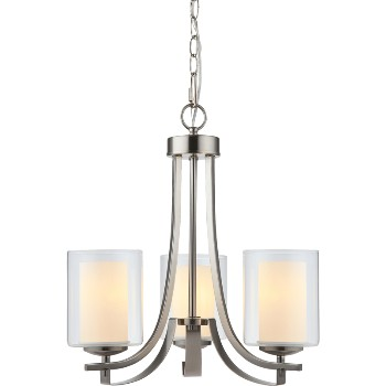 El Dorado Design Series 3-Light Chandelier ~ Satin Nickel Finish