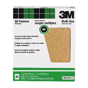 3M 051144994052 Sandpaper, Aluminum Oxide ~ 80 grit