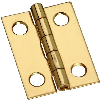"Solid Brass Narrow Hinge, Polished ~ 1"" x 3/4"""
