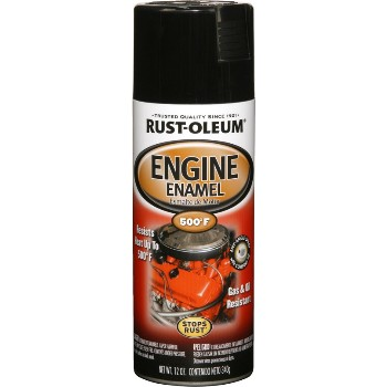 Engine Enamel, Gloss Black Spary Cans