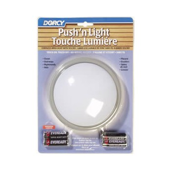 Dorcy Intl 41-1077 Push n Light Touch Light, Battery Operated