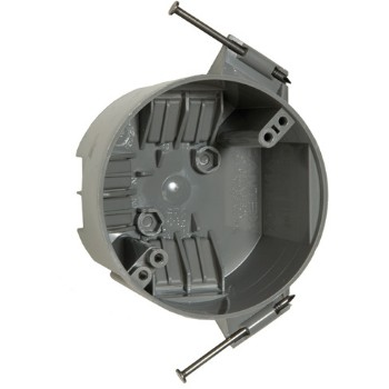 Round Cable Ceiling Box, Non Metallic 4 inch