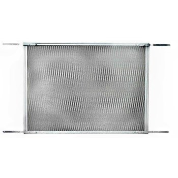 "Screen & Storm Door Protective Grille,  Mill  Finish Aluminum  ~ 33-1/2"" W x 24"" H"