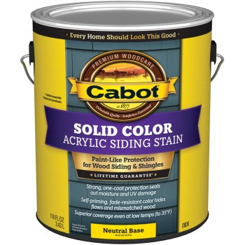 Solid Color Acrylic Siding Stain,  Neutral Base ~ Gallon
