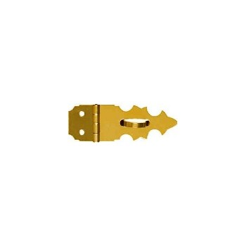 Solid Brass/Pb Decorative Hasp, Visual Pack 1824 5/8 x 1 - 7/8