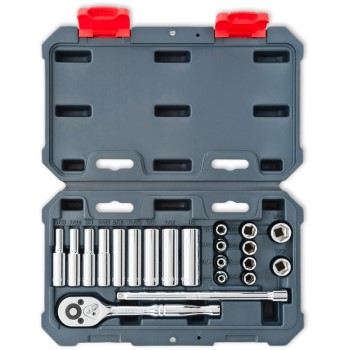 Socket & Wrench Set, 21 Piece ~ 1/4""