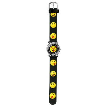 Kids Wristwatch, Smiley Face Band