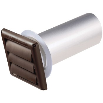 Louver Hood Pipe/Collar, Brown ~ 4""