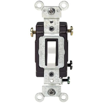 Toggle 3-Way Quiet Switch ~ White