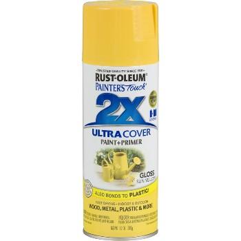 Rust-Oleum 249092 2X Ultra Spray Paint, Sun Yellow Gloss ~ 12oz