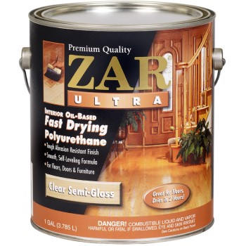 ZAR/UGL 33013 ZAR Oil-Based Ultra Poly Interior Wood Finish, Semi-Gloss ~ Gallon