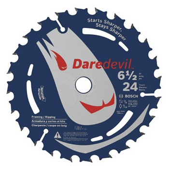 DareDevil Portable Saw Blade, 24t ~ 6.5""