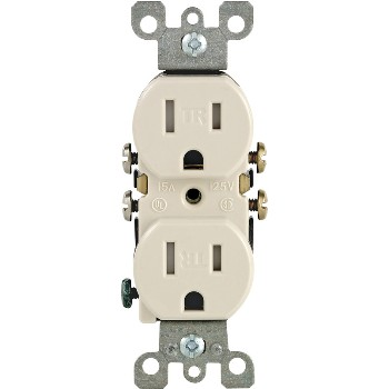 Tamper-Proof Duplex Outlet ~ Light Almond