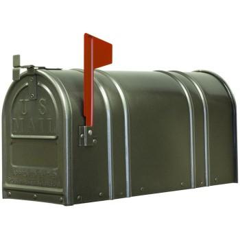 Fulton 1-1/2-1 Post Mount Mailbox, Large ~ Gunmetal Silver