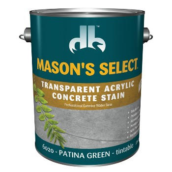 Transparent Acrylic Concrete Stain, Pantina Green ~ Gallon
