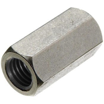 "National N182-691 N347-062 Threaded Rod Coupler 7//16/"" 14 TPI Zinc Plated Steel"