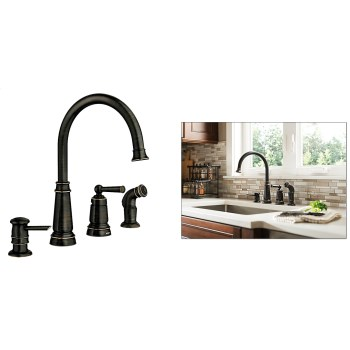 Moen 87042BRB Edison Series High Arc Kitchen Faucet, Single Handle ~ Oil Rubd Bronze