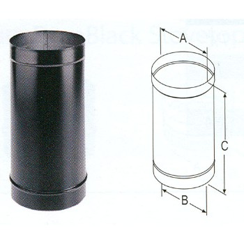 "M & G Duravent 1624 Single Wall Stove Pipe, 24 Ga ~ 6"" x 24"""