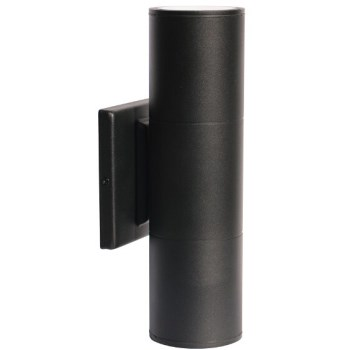 Led Blk 2-Lit Sconce