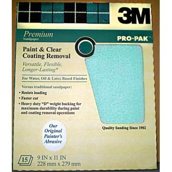3M  Pro Pak Sandpaper, Paint/Varnish ~ 180C Grit