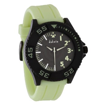 Glow In The Dark, Black Dial, Luminous Silicon Strap
