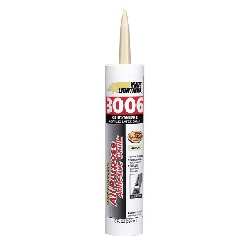 All Purpose Sealant, White Lightning 3006 10 Ounce