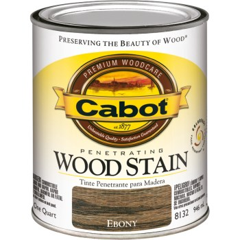 Penetrating InteriorWood Stain,  Ebony ~ Quart