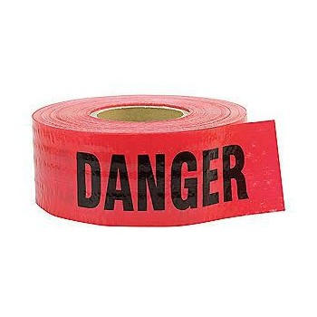 "Danger Barrier Tape, 5 mil ~ 3"" x 500 ft"