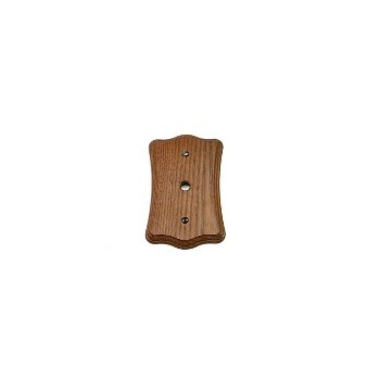 Switch Plate - Oak TV and Phone