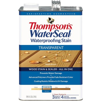 Transparent Waterproofing Stain, Maple Brown ~ Gallon