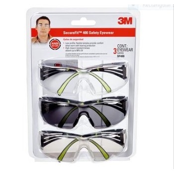 Safety Glasses ~ 3 pack