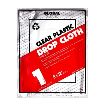 Clear Plastic Drop Cloth ~ 1 Mil