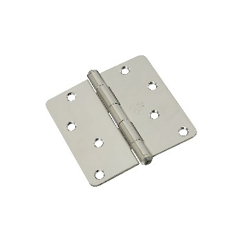 "Stainless steel Hinge ~  4"" x 4""  with 1/4"" Radius"