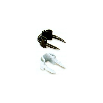 Insululated Wire Staples, White