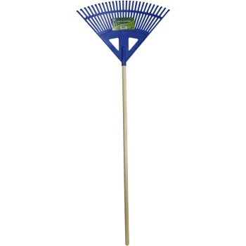 Wood Handle Poly Leaf Rake ~ 24""