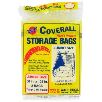 Warp Bros CB-60 Storage Bags, 60 X 108 inches CB-60