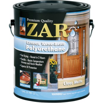 ZAR Exterior Water-Based Polyurethane,  Matte Finish ~ Gallon