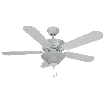 Ceiling Fan, White 42 inch Blade