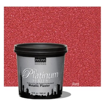 Platinum Series Metallic Plaster, Red ~ Quart