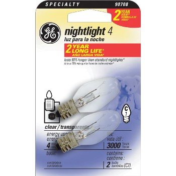 GE 43050 Night Light, Clear 4 watt