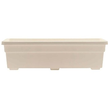"Window Box, White ~ 23-3/4""L x 8""W x 6-1/2"" D"