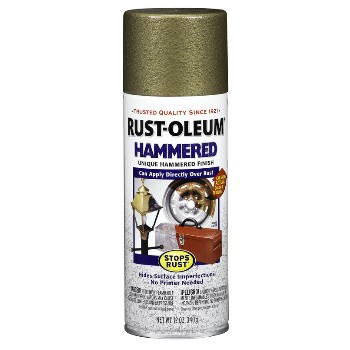 Rust-Oleum 7210830 Spray Paint,  Hammered Finish ~ Gold
