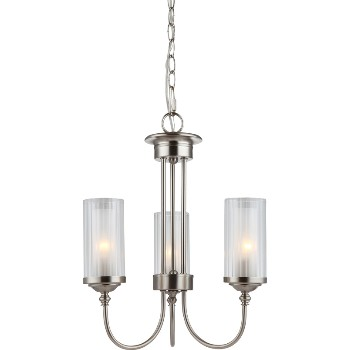 Lexington 3 Light Chandelier ~ Satin Nickel