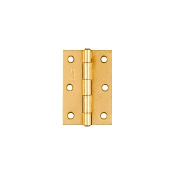Non-removable Hinges,  Brass Finish  ~ 3 inches