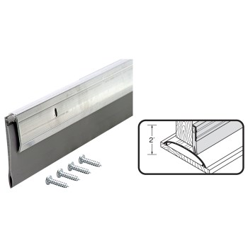 "Adjustable Height Threshold, Satin Nickel ~ 36"" L  x  4  9/16"" Width"