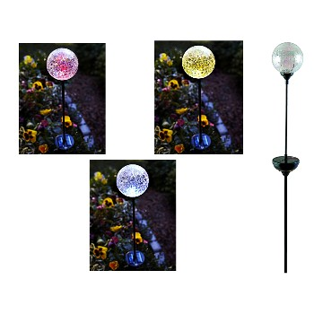 Solar Stake Light w/LED Color Changing  Ball