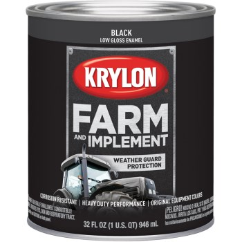 Krylon K02022000 2022 Qt Low Gloss Black Paint