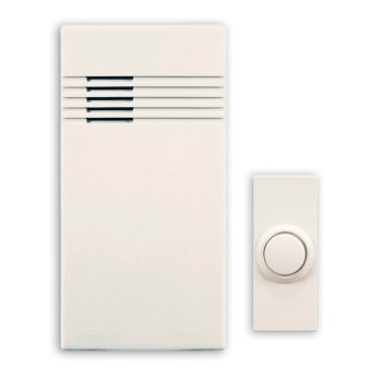 Wireless Door Chime & Push Button ~ Off White