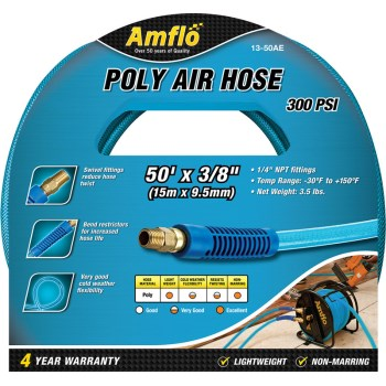 Plews/Edelmann 13-50AE Poly Air Hose, Blue ~ 3/8
